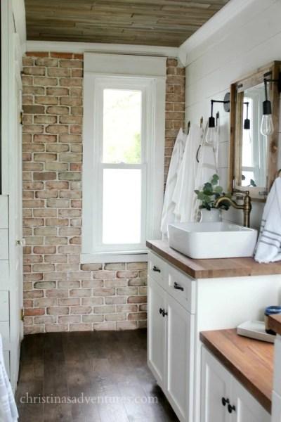 Brick Wall In Bathroom