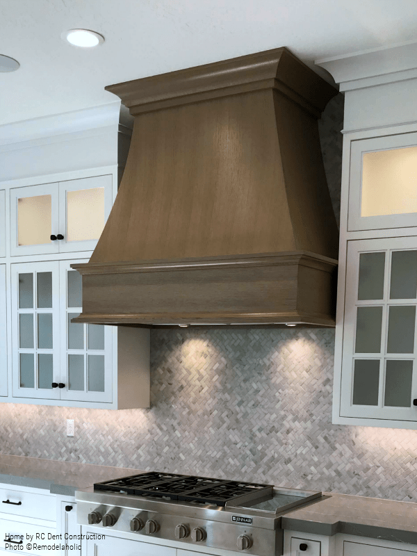 Wooden Range Hood In White Kitchen RC Dent Construction And Remedy Design 2018 Utah Valley Parade Of Homes Featured On Remodelaholic