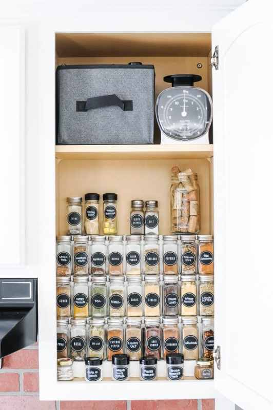 Organizing Spices In A Cabinet 18