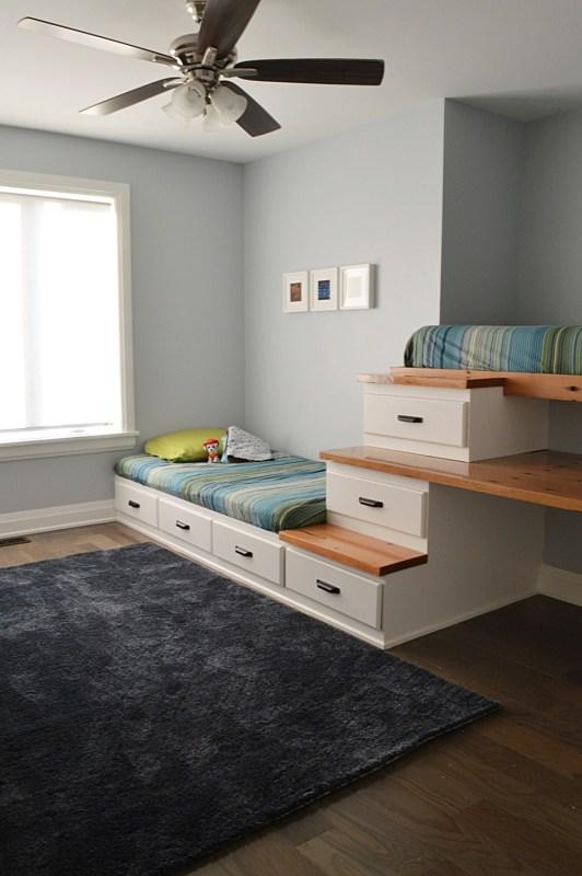 White Built In Loft Bed