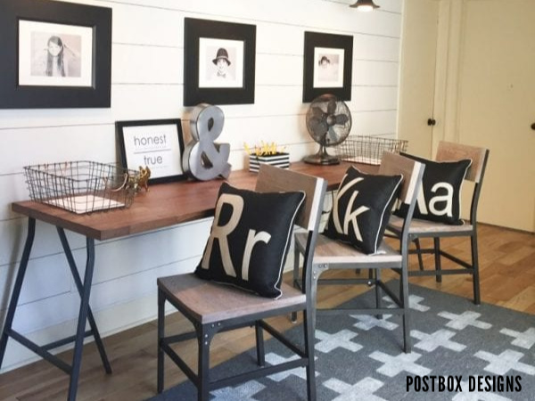 Farmhouse Style Kids Homework Station By Postbox Designs On Remodelaholic