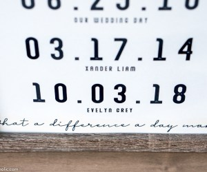"""""""What a Difference a Day Makes"""" Special Date Custom Printable In Wood Frame"""