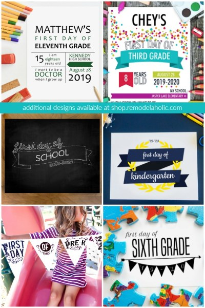 Additional First And Last Day Of School Photo Signs, 7 Styles #remodelaholic