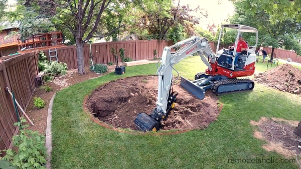 Digging An In Ground Trampoline Hole #remodelaholic