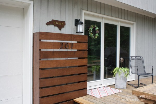 DIY Stained Wood Screen To Hide Unwanted Areas And Utility Boxes