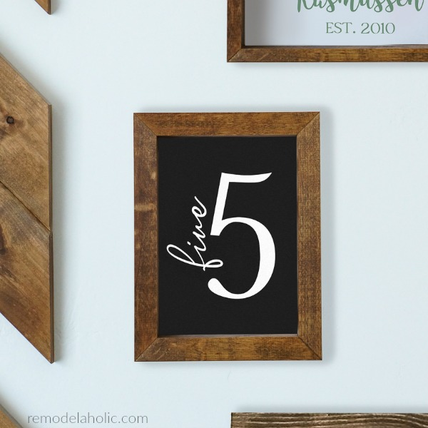 Printable Family Number Sign In Chalkboard Black, Farmhouse Family Gallery Wall, Instant Download #remodelaholic