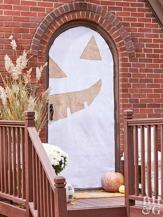 How To Make A Halloween Door Cover BHG