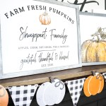 Remodelaholic Printable Diy Pumpkin Patch Sign With Family Name