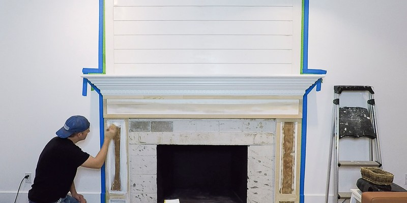 DIY Fireplace Makeover Part Two: KILZ Priming and Painting