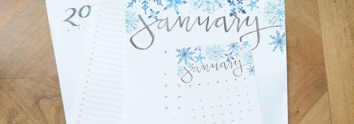 2020 Monthly Calendar Printable Set: Large Format, Desktop, and Birthday Calendars