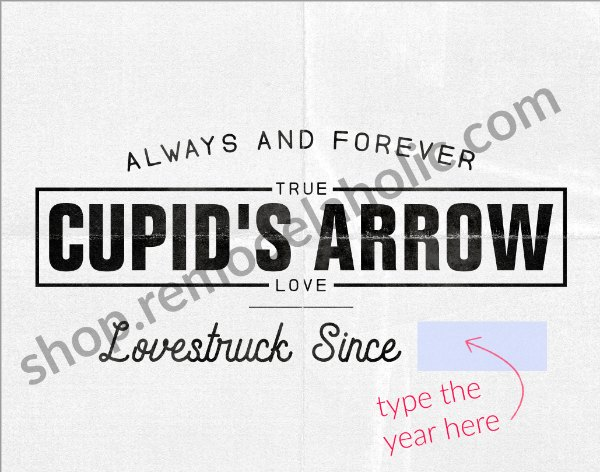 Personalized Anniversary Date Art Cupid's Arrow Fillable #remodelaholic