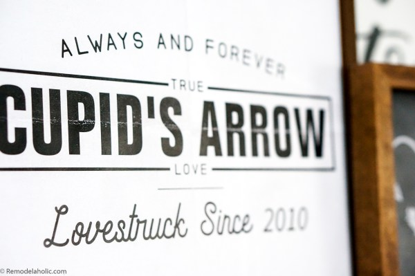 Retro Cupid's Arrow Custom Anniversary Date Valentine's Day Art Print #remodelaholic
