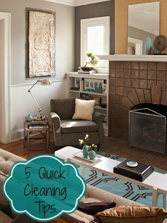 5 Quick Cleaning Tips Image Of Licing Room With Long White Bench Table