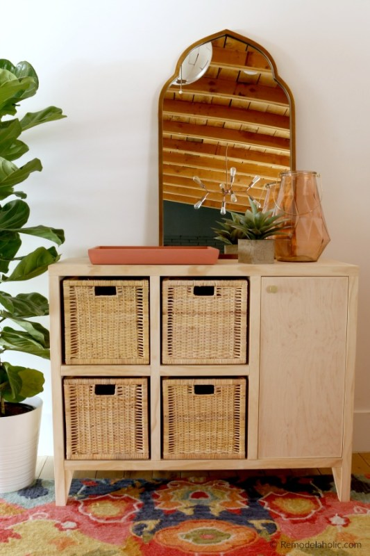 DIY Tutorial To Build An Entry Table Console With Cabinet And Cubby Storage, Remodelaholic