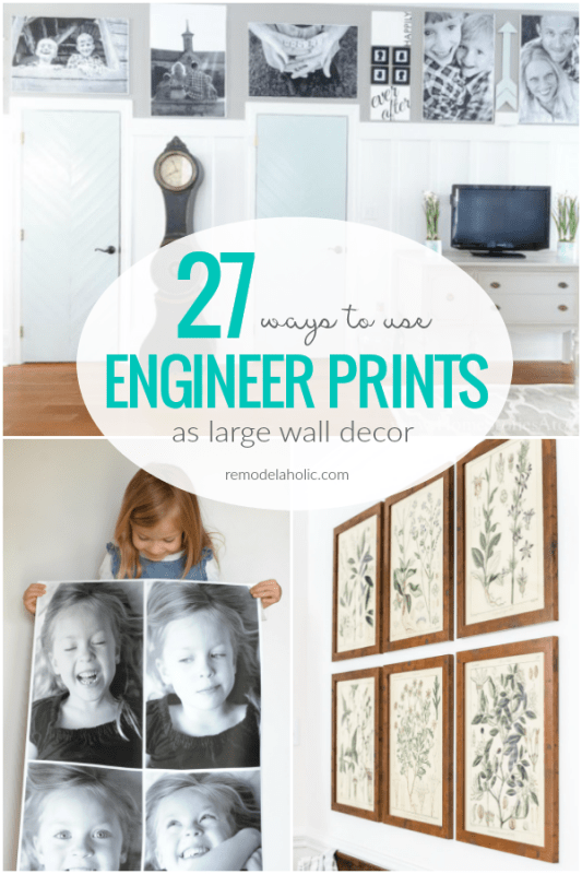 27 Ways To Use Affordable Engineer Prints As DIY Large Wall Decor, Remodelaholic