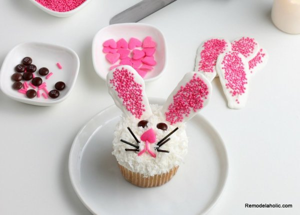 Easy Easter Cupcakes: How to Decorate an Easter Bunny Cupcake