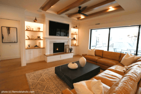 Neutral Modern Farmhouse Living Room (1)