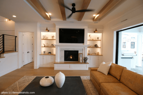 Neutral Modern Farmhouse Living Room Decor