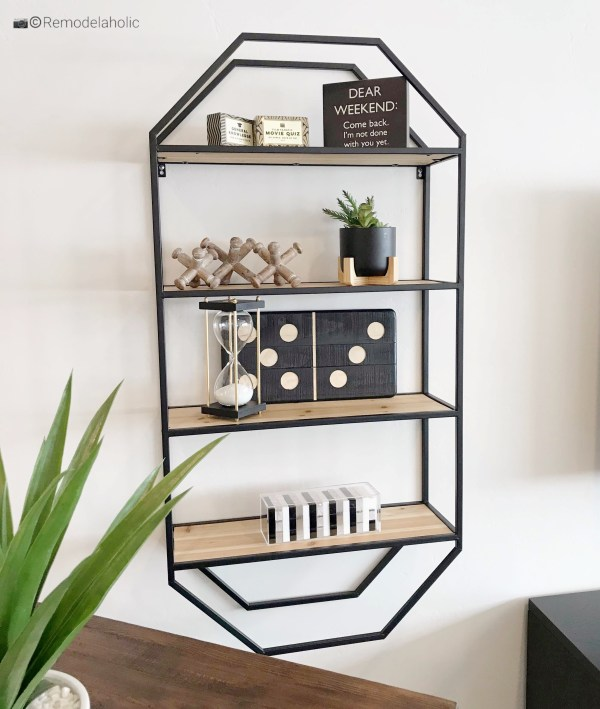 Unique and cool wall shelves and styling ideas featured on RemodelaholicSGPH 2019 House 28 Diamond B Builders (19)