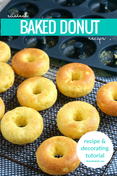 Easy Baked Donut Recipe And Decorating Tutorial, Cake Mix Donuts Remodelaholic