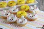 Easy Baked Donuts Recipe With Frosting For Easter Bunny Donuts Chick Donuts Remodelaholic