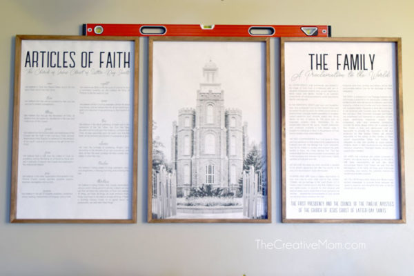 How To Frame Engineer Prints For Large DIY Wall Decor, The Creative Mom