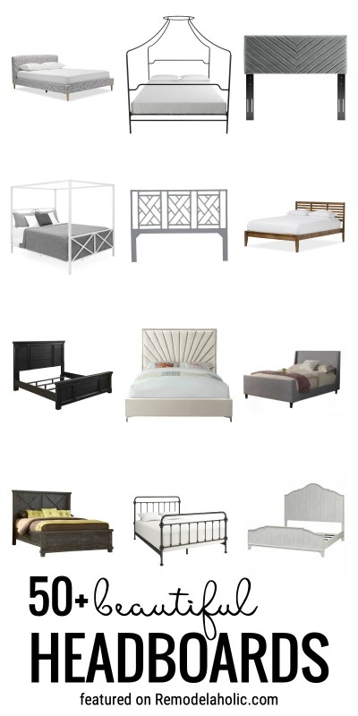 Find The Perfect Headboard For Your Bedroom With One Of These 50+ Beautiful Headboards And Bed Frames Featured On Remodelaholic.com