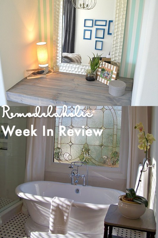 Update A Tile Shower & Tub In A Weekend + 30+ Springy DIY Decor Ideas