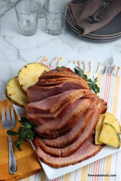 Easy Crockpot Ham Recipe, Pineapple Brown Sugar Glaze, Remodelaholic (2)