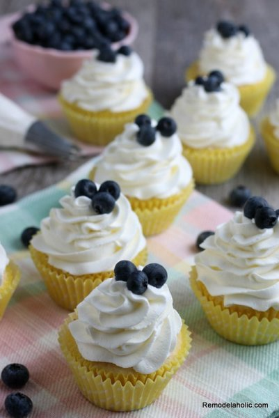 Easy Lemon Cupcake Recipe With Fresh Lemon Juice Remodelaholic (1)