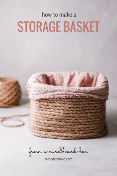How To Make A Storage Basket From A Cardboard Box, Upcycled Storage Bin, Remodelaholic