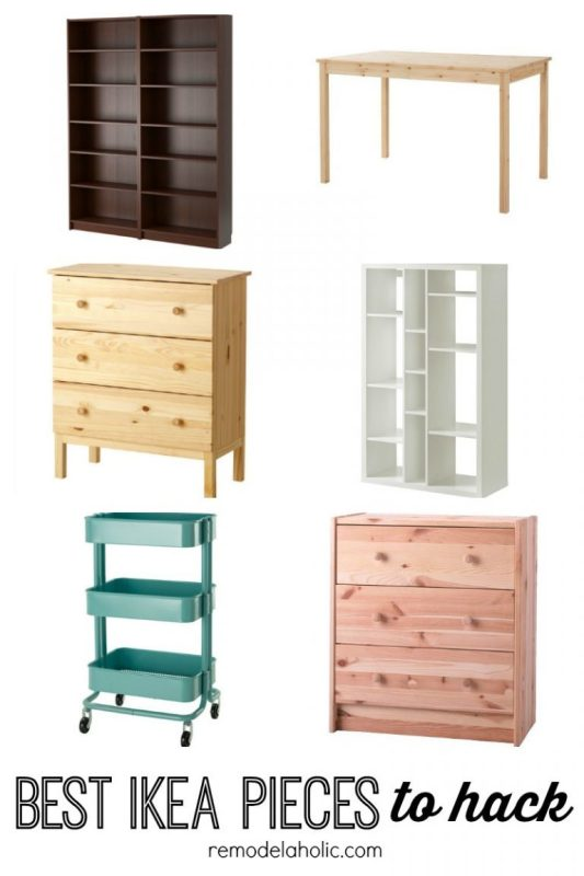 Best IKEA Pieces To Hack Featured On Remodelaholic.com 768x1152