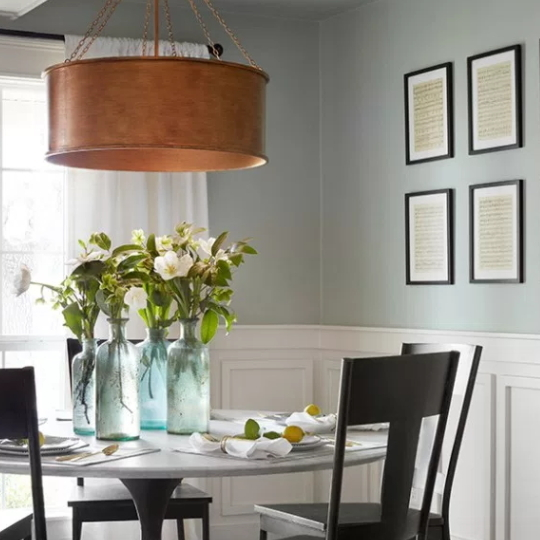 Dining Room With Sage Green Wall