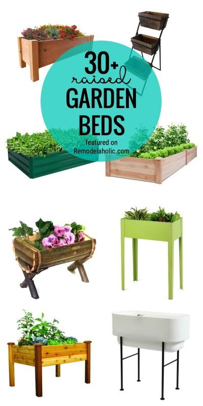 Trouvez votre lit de jardin parfait avec un lit de jardin surélevé ou surélevé présenté sur Remodelaholic.com