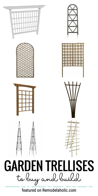Garden Trellises To Buy And Build Featured On Remodelaholic.com