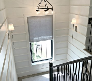 Stairway With White Accented Walls