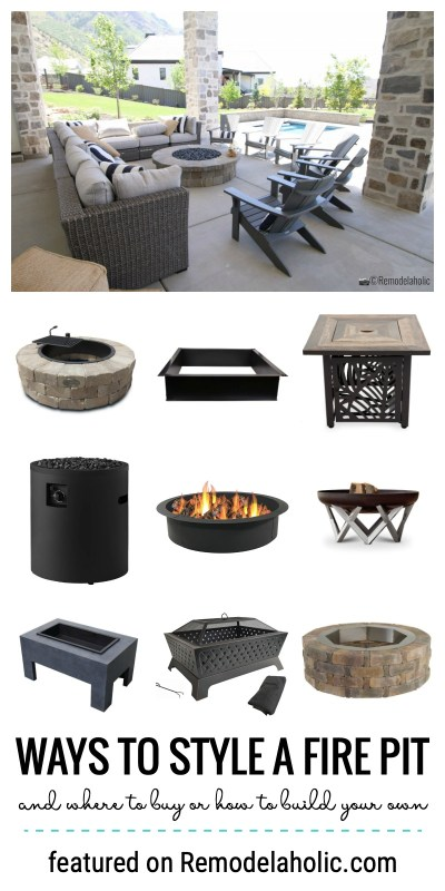 Ways To Style A Fire Pit In Your Backyard And Where To Buy Or How To Build Your Own Featured On Remodelaholic.com