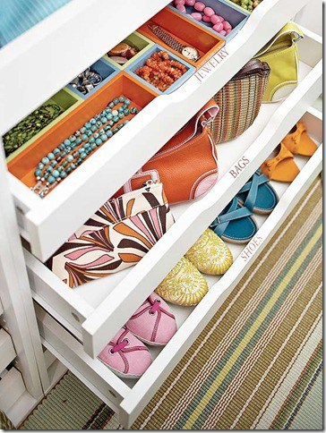 Drawers Full Of Shoes, Bags, Jewelry
