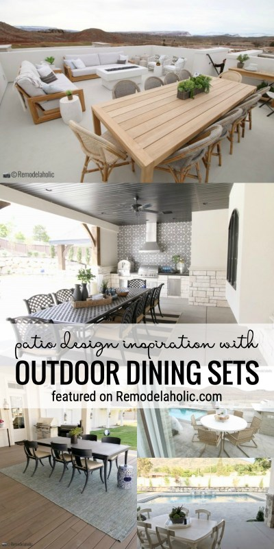 Get Ideas For Your Porch Or Patio With This Patio Design Inspiration With Outdoor Dining Sets Featured On Remodelaholic.com