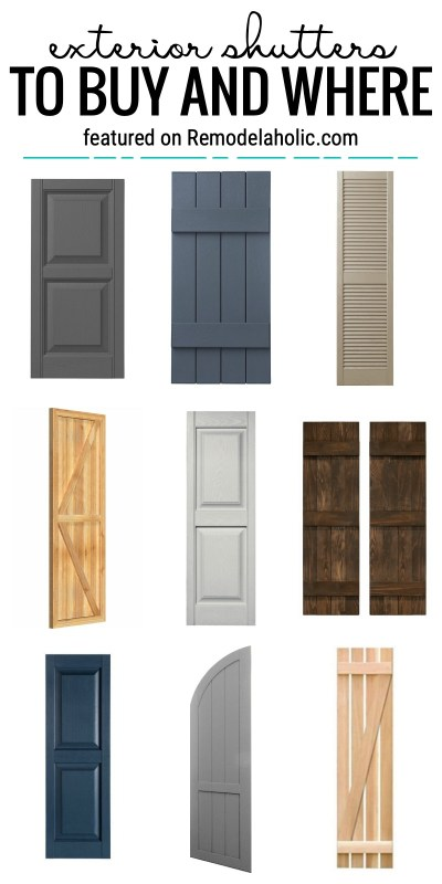 Add A Special Touch To Your Home Exterior With Shutters. We Will Show You Some Ideas For Exterior Shutters To Buy And Where Featured On Remodelaholic.com