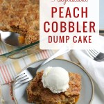 Easy Peach Cobbler Dump Cake Recipe #remodelaholic
