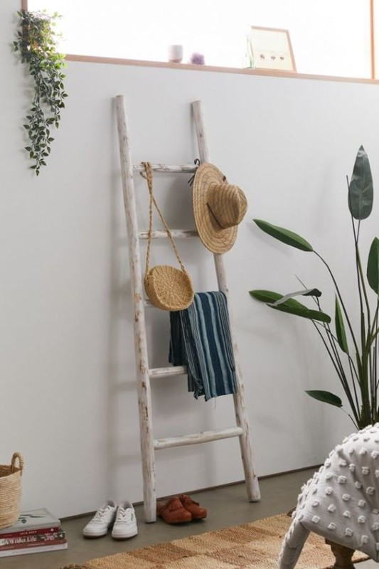 Entry Organizer, Add S Hook To Blanket Ladder For Hats And Purses, Urban Outfitters