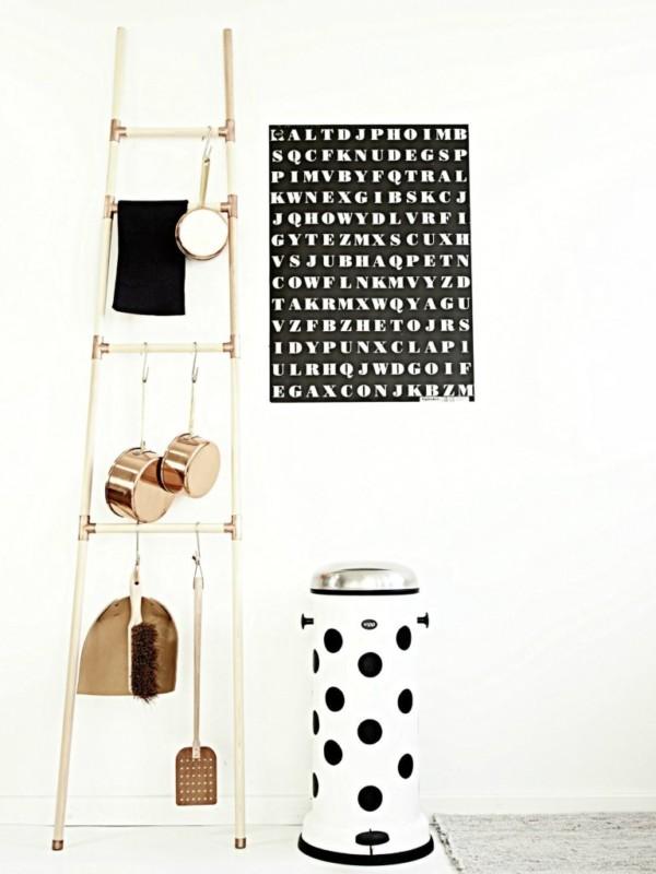 Kitchen Storage Ladder From Wood Blanket Ladder Decor, Monster Circus