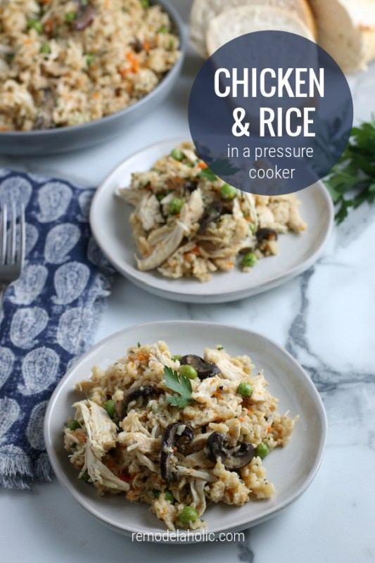 How To Make Chicken And Rice In An Instant Pot Pressure Cooker #remodelaholic