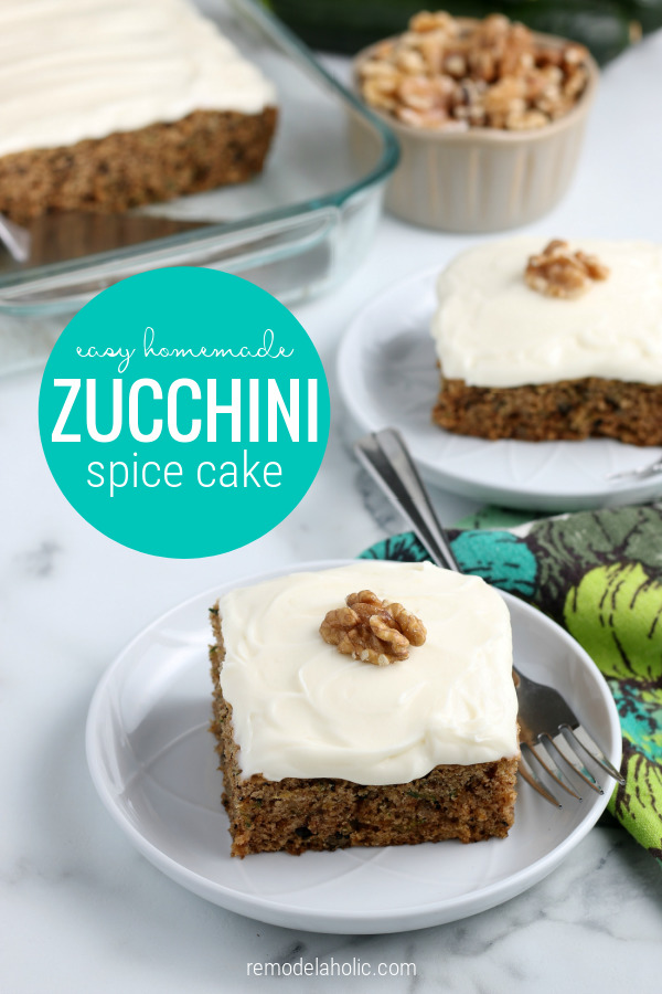 Homemade From Scratch Zucchini Spice Cake Remodelaholic
