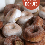 Baked Apple Cider Cinnamon Sugar Donuts, Fall Apple Recipe Remodelaholic
