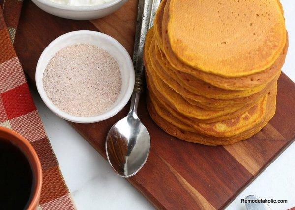 Easy Pumpkin Spice Pancake Recipe, Remodelaholic