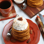 Homemade Pumpkin Spice Pancakes With Real Pumpkin Puree From Scratch, Remodelaholic