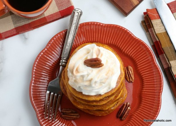How To Make Pumpkin Pancakes For Breakfast, Remodelaholic