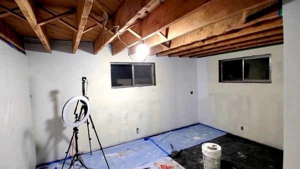basement remodel under construction